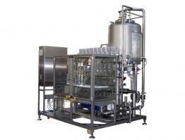 Pilot filler with concentrate preparation unit