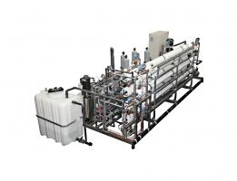 Double-stage for wash water and brine reuse