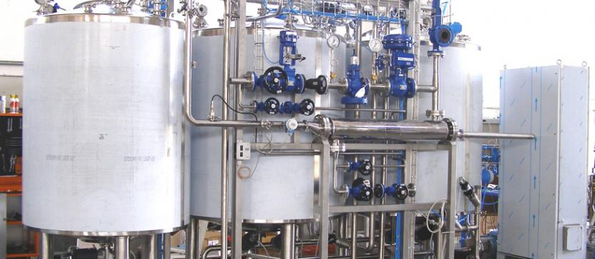 CIP with 3 tanks and exchanger