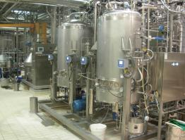 Skid milk ferments preparation