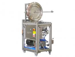 Wheeled high pressure coating pan washer