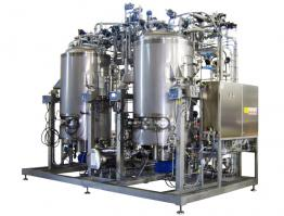 Skid with two preparation fermenters