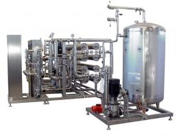 Double-stage reverse osmosis, capacity 80m3/h